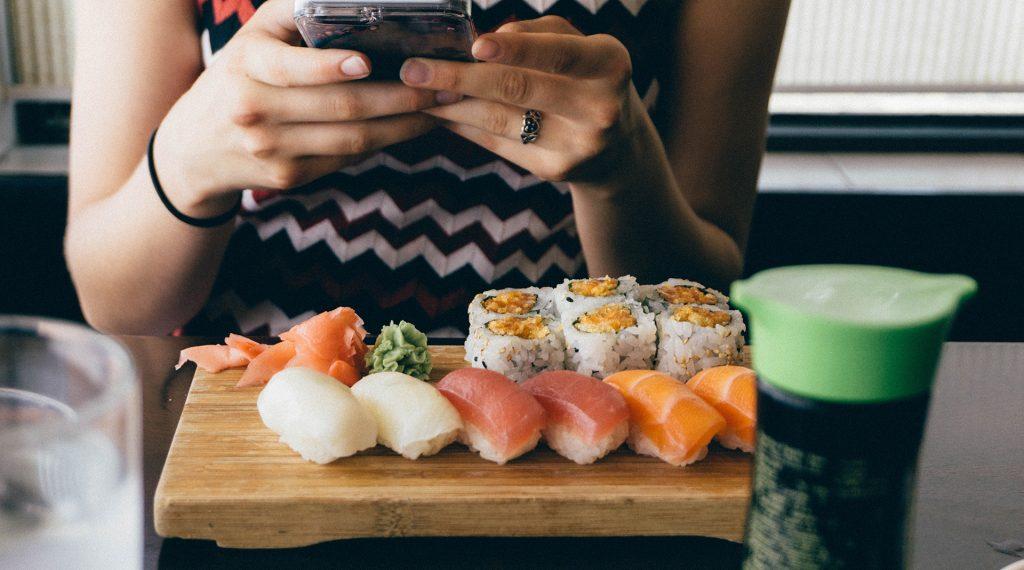 sushi e vinho